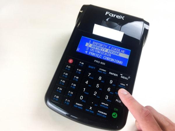 Farex ONline PRO 600 jako stacjonarna kasa fiskalna online